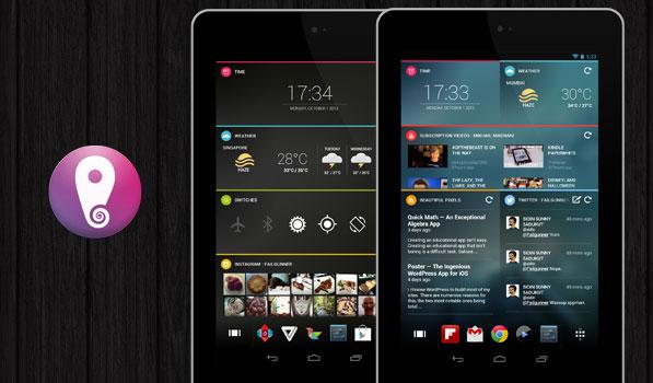 Schermata dell'applicazione Chameleon Launcher per Android