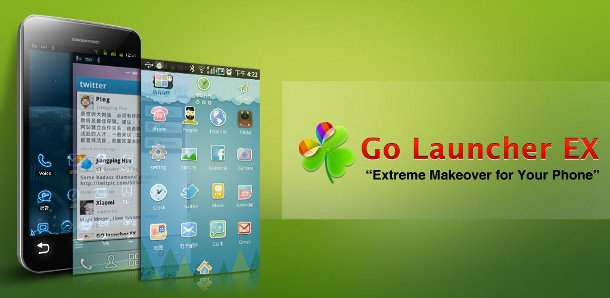 Schermata dell'applicazione Go Launcher EX per Android