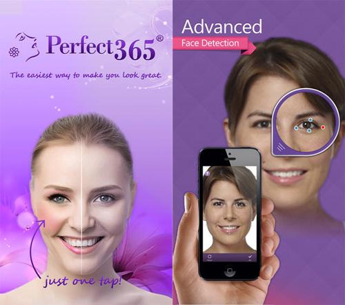 Schermata dell'applicazione Perfect 365 per Android e iPhone