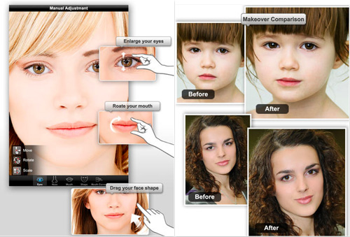 Schermata dell'applicazione Photo Makeover per iPhone