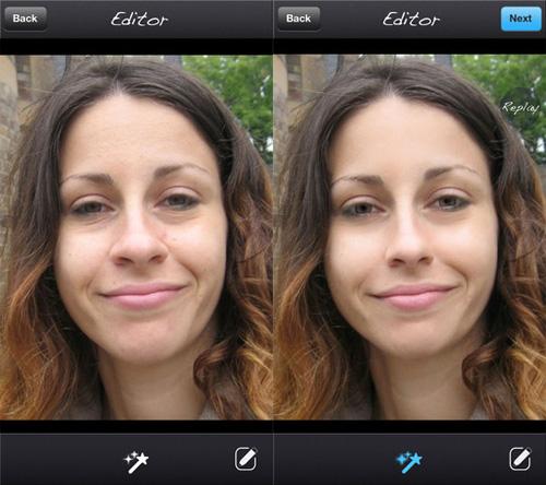 Schermata dell'applicazione Pixtr per iPhone
