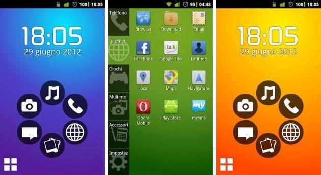 Schermata dell'applicazione Smart Launcher per Android