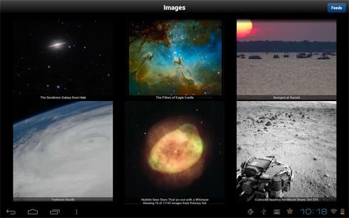 Schermata dell'applicazione NASA App per Android e iOS