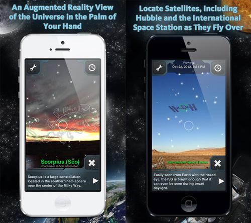 Schermata dell'applicazione SkyView Free per iOS