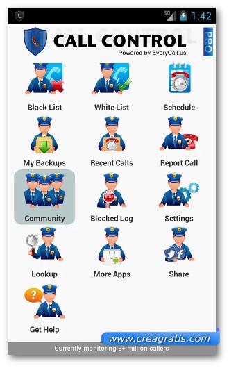 Immagine dell'applicazione Call Control