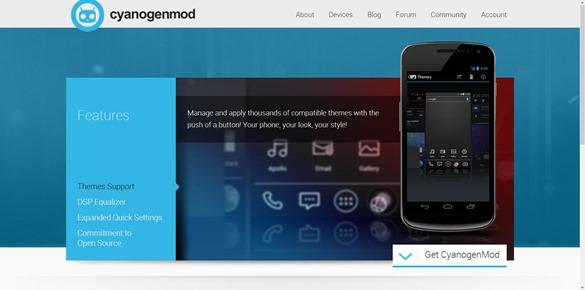 Schermata della custom ROM CyanogenMod per Android