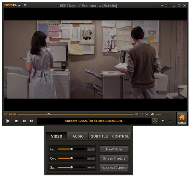 Interfaccia grafica del programma GOM Player