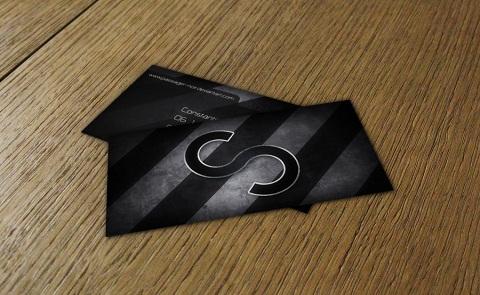 Immagine del biglietto da visita nero numero 02