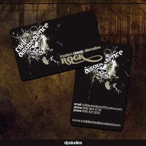 Immagine del biglietto da visita nero numero 08