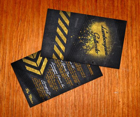Immagine del biglietto da visita nero numero 23