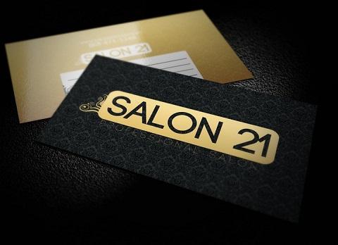 Immagine del biglietto da visita nero numero 26