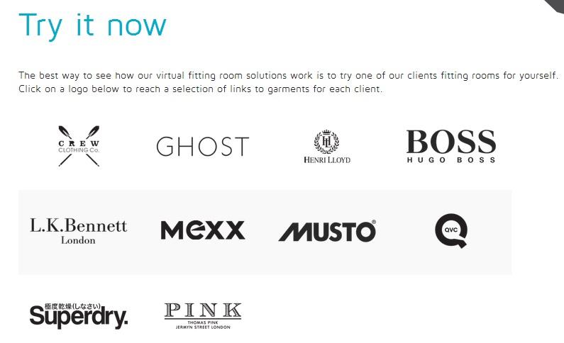 Immagine del sito Fits.me per provare vestiti online