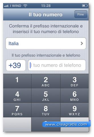 Schermata di installazione di WhatsApp