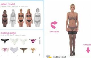 Immagine del sito Knicker Picker per provare vestiti online