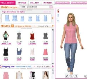 Immagine del sito My Virtual Model per provare vestiti online