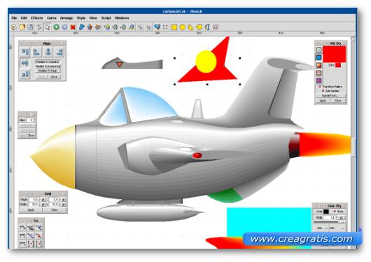 Immagine del programma Skencil