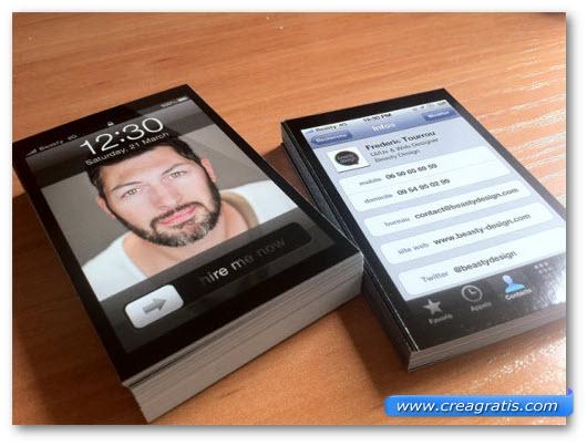 Immagine del biglietto da visita iPhone