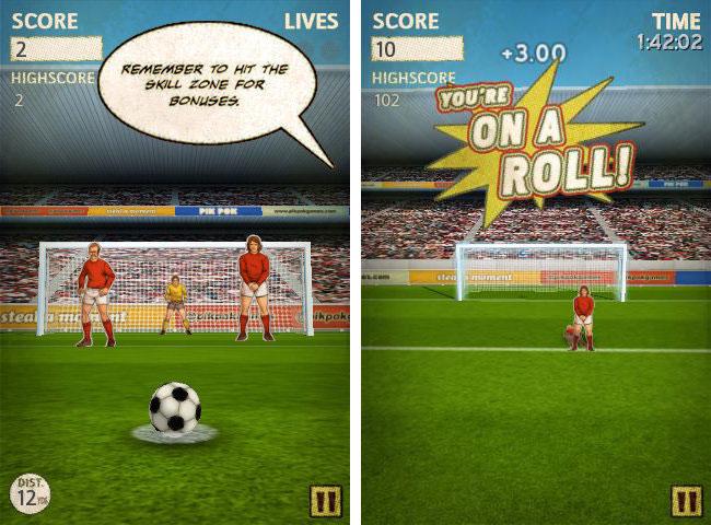 Immagine del gioco di calcio Flick Kick Football