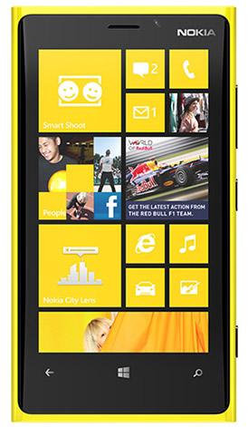 Immagine dello smartphone Nokia Lumia 920