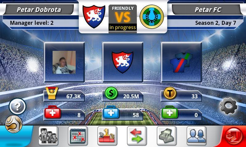 Immagine del gioco di calcio Top Eleven