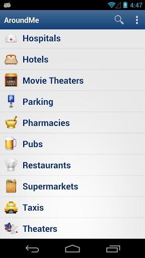 Immagine dell'applicazione AroundMe per Android
