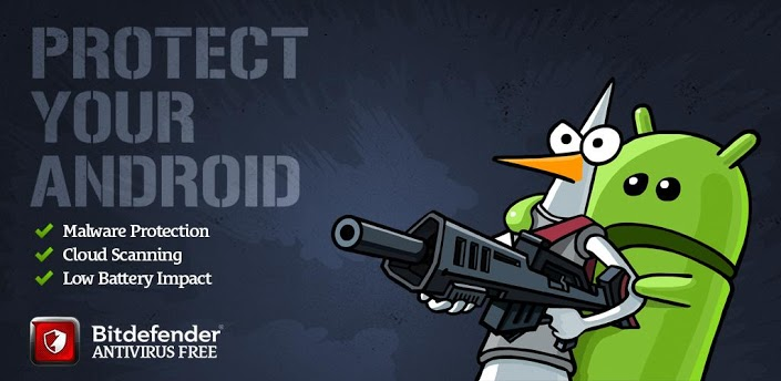 Schermata dell'antivirus Bitdefender per Android