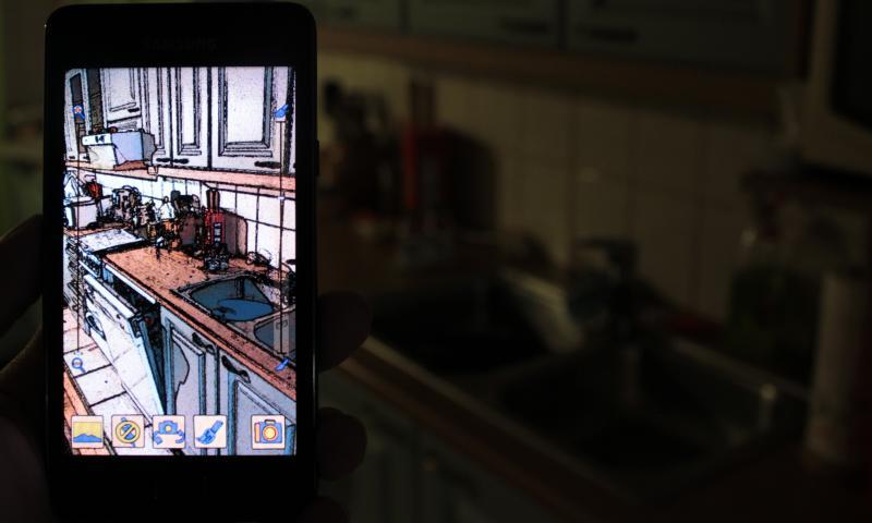 Immagine dell'utilizzo dell'applicazione Cartoon Camera per Android