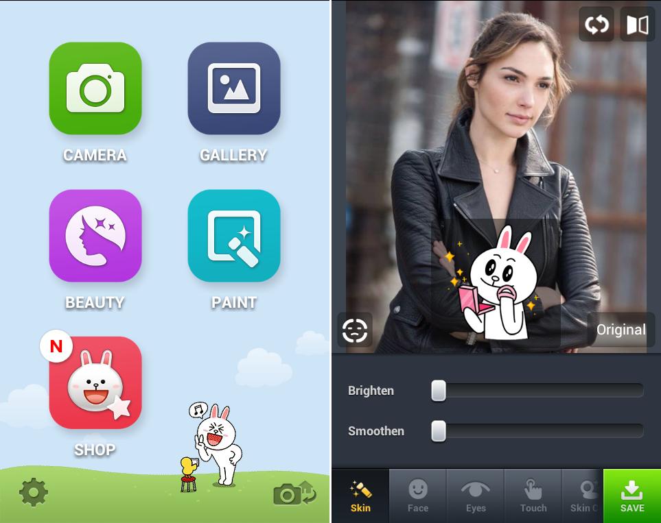 Schermate dell'applicazione Line Camera per Android