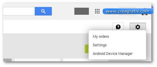Schermata per accedere alla pagina di richiesta del rimborso da parte di Google