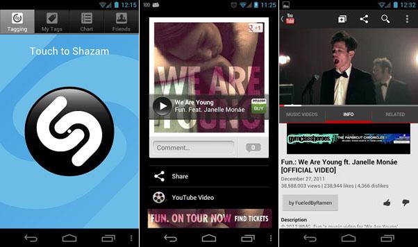 Immagine dell'applicazione Shazam per Android