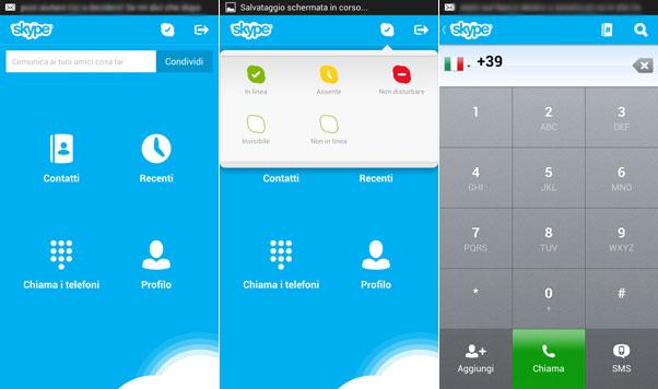 Immagine dell'applicazione Skype per Android