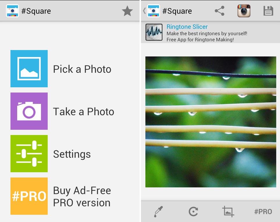 Schermate dell'applicazione Square per Android