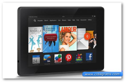 Immagine del tablet Kindle Fire HD