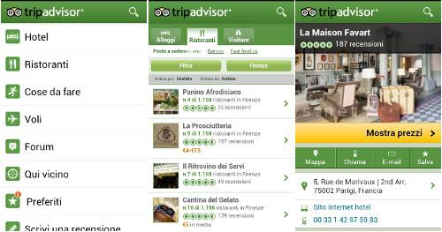 Immagine dell'applicazione TripAdvisor per Android