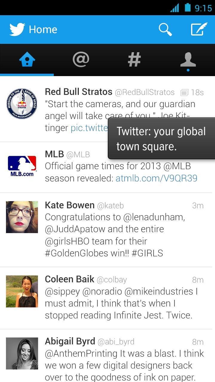 Immagine dell'applicazione Twitter per Android