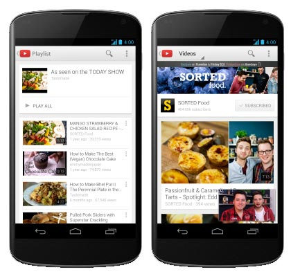Immagine dell'applicazione YouTube per Android