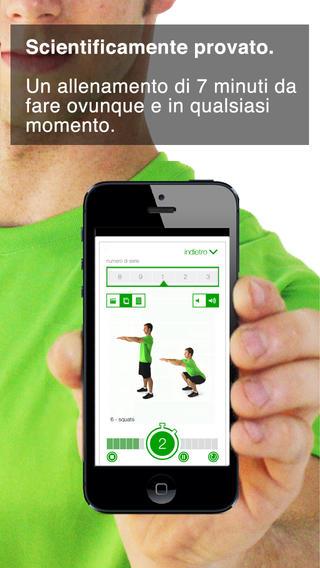 Schermata dell'applicazione 7 min workout per iPhone