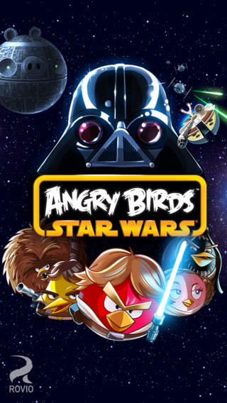 Schermata del gioco Angry Birds Star Wars per iPhone