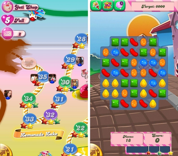 Immagine del gioco Candy Crush Saga per iPhone