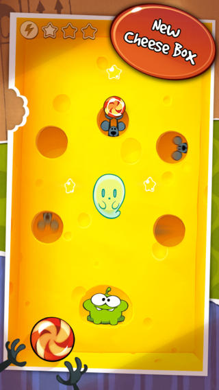 Schermata del gioco Cut the Rope per iPhone