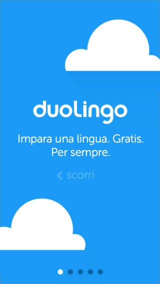 Schermata dell'applicazione Duolinguo per iPhone