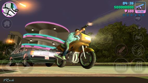 Schermata del gioco GTA Vice City per iPhone