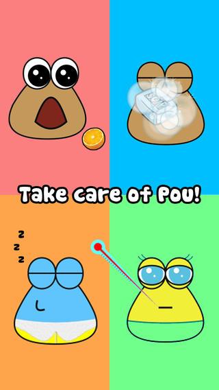 Schermata del gioco Pou per iPhone
