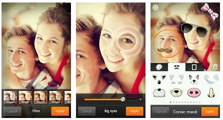 Schermata dell'applicazione Cymera per Android