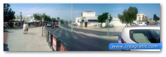 Foto panoramica con un brutto effetto di movimento
