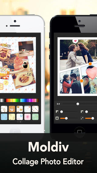 Schermata dell'applicazione Moldiv Collage Photo Editor per Android e iPhone