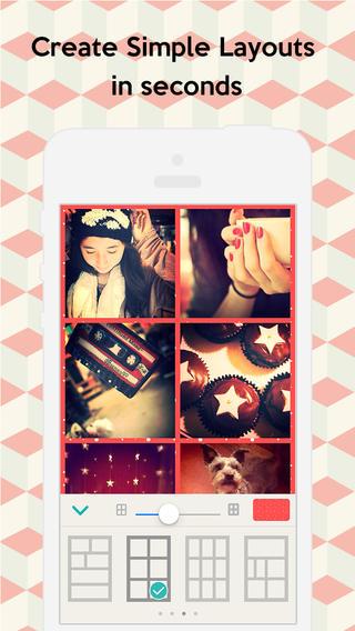 Schermata dell'applicazione Pic Collage per Android e iPhone