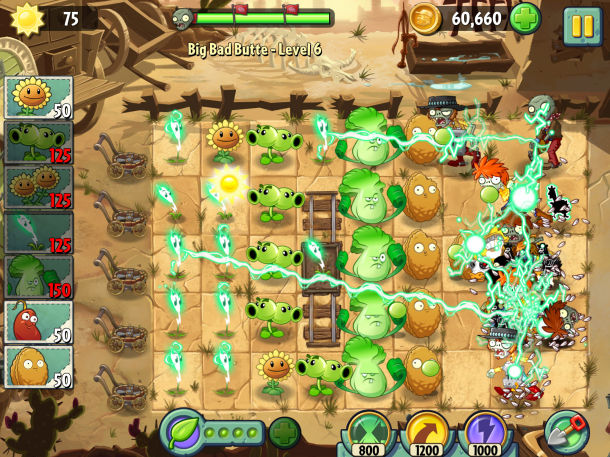 Immagine del gioco Plants vs. Zombies 2 per Android