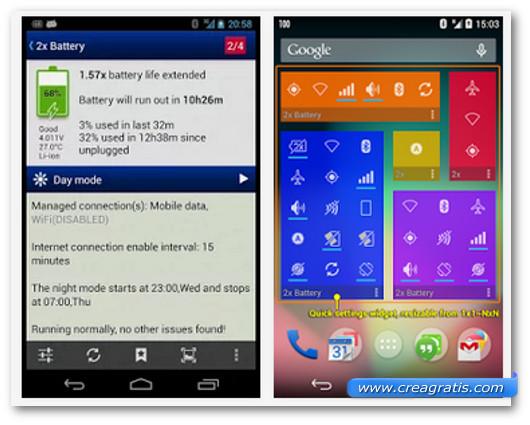 Immagine dell'applicazione 2x Battery per Android