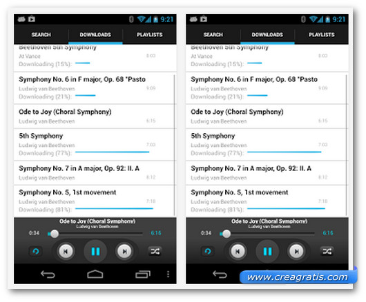 Schermate dell'applicazione Music Download Paradise Pro per Android